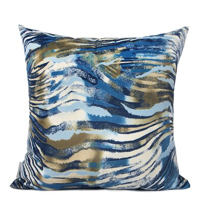 Oakdene Digital Printing Pillow Cover Fill Material: No Fill, Color: Blue/Black