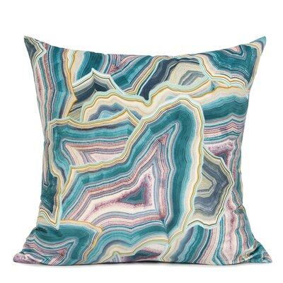 Hartman Digital Printing Pillow Fill Material: Down/Feather, Color: Green/Purple/Yellow