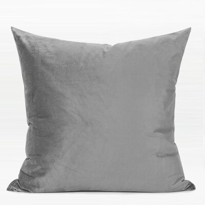 Denney Two Color Pillow Cover Fill Material: Down/Feather, Color: Gray/Pink