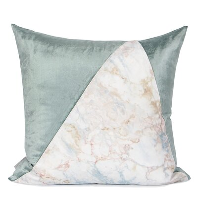 Denney Two Color Pillow Cover Fill Material: Polyester/Polyfill, Color: Green/Pink