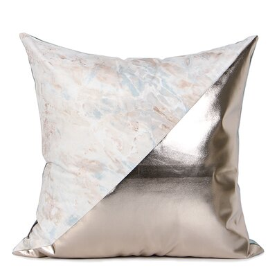 Dennison Two Color Pillow Cover Fill Material: No Fill, Color: Green/Pink/Light Gold