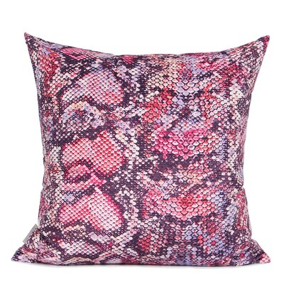 Oakely Printing Pillow Cover Fill Material: Polyester/Polyfill, Color: Pink