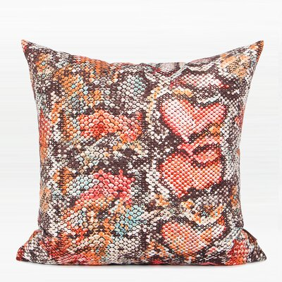 Oakely Printing Pillow Cover Fill Material: Down/Feather, Color: Orange