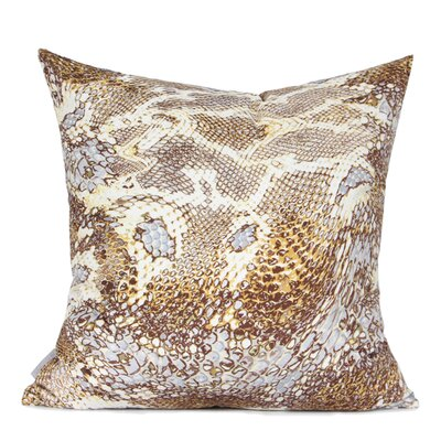 Oakhill Digital Printing Pillow Cover Fill Material: Polyester/Polyfill, Color: Khaki/Brown