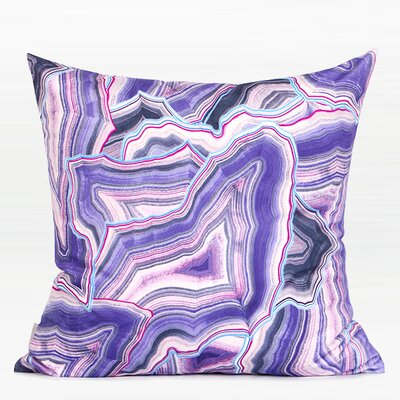 Rayner Agate Pattern Digital Printing Flannel Pillow Color: Purple, Fill Material: Polyester/Polyfill, Product Type: Throw Pillow