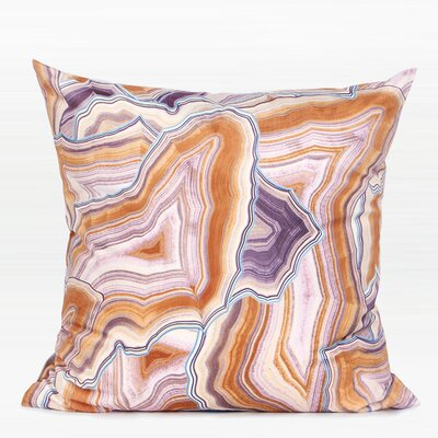 Rayner Agate Pattern Digital Printing Flannel Pillow Color: Orange, Fill Material: No Fill, Product Type: Pillow Cover