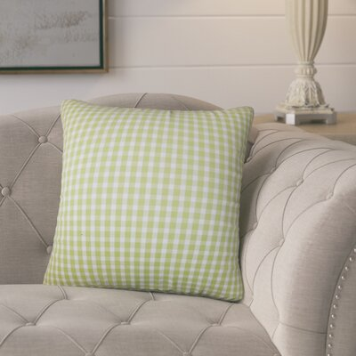 Ponticus Plaid Cotton Throw Pillow
