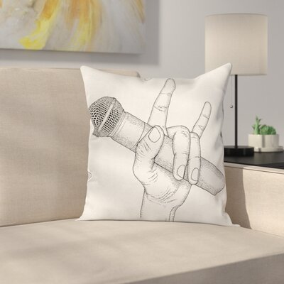 Rock High Sign Square Pillow Cover Size: 24 x 24