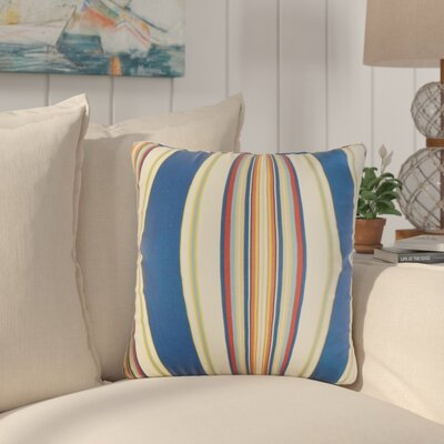 Afrin Stripes Cotton Throw Pillow Color: Blue/Red/Orange
