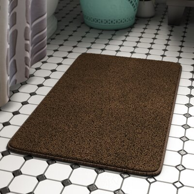 Kasten Plush Pile Solid Bathroom Bath Rug Color: Chocolate