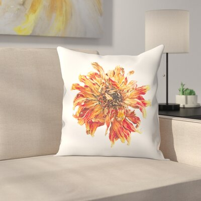 Lion Flower Throw Pillow Size: 16 x 16