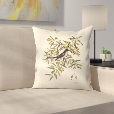 Yellow Jeffamy Throw Pillow Size: 14 x 14