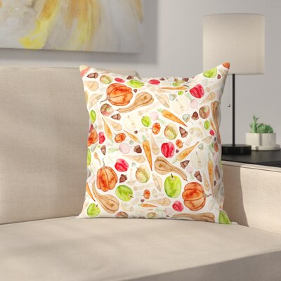 Elena ONeill Fruit and Veg Throw Pillow Size: 20 x 20