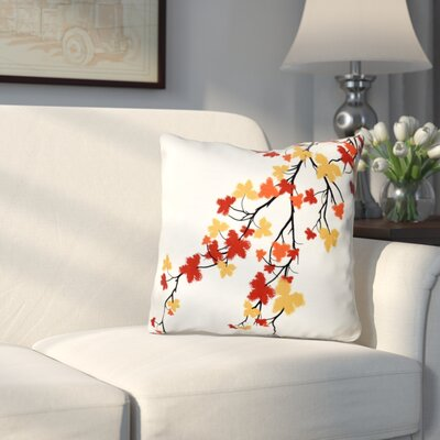 Marshallton Hues Floral Outdoor Throw Pillow Color: Orange