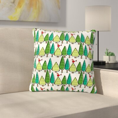 Holly Helgeson Vintage Christmas Holiday Pattern Outdoor Throw Pillow Size: 18 H x 18 W x 5 D