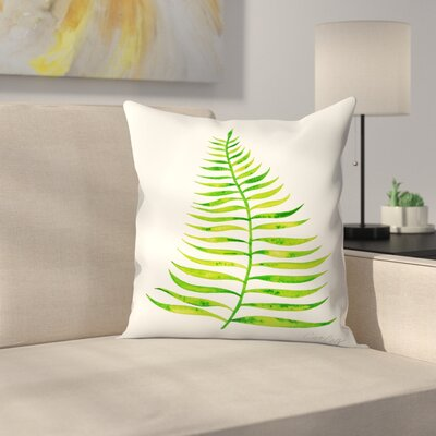 Cat Coquillette Palm Leaf Throw Pillow Color: Lime, Size: 16 x 16
