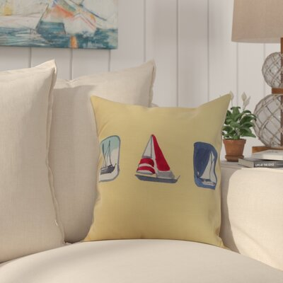 Harriet Print Throw Pillow Color: Yellow, Size: 26 x 26