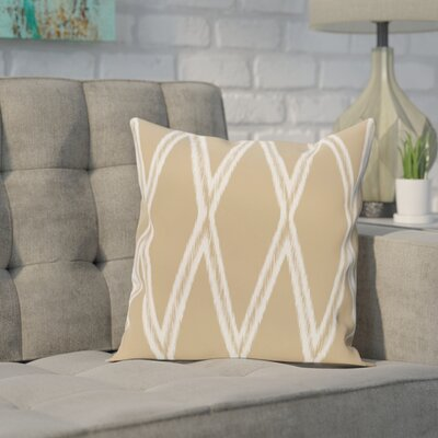 Broadhurst Geometric Print Throw Pillow Size: 18 H x 18 W x 1 D, Color: Khaki