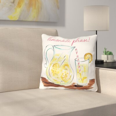 Brookins Lemonade Please Throw Pillow Size: 16 H x 16 W x 3 D