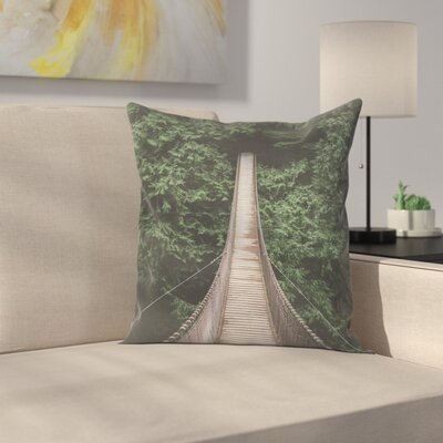 Luke Gram Bridge 3 Best Dirtremoved Throw Pillow Size: 14 x 14