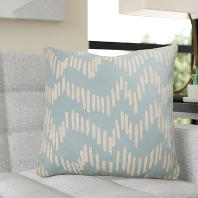 Ochoa 100% Cotton Throw Pillow Size: 18 H x 18 W x 4 D, Color: Teal / Beige
