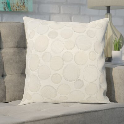 Leather Throw Pillow Color: White