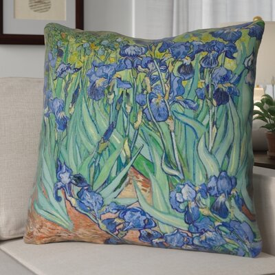 Morley Concealed Irises Euro Pillow Color: Blue/Yellow