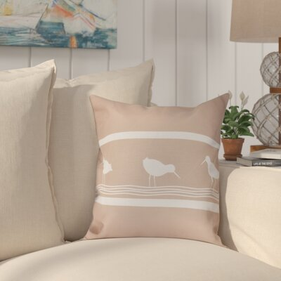 Hancock Birdwalk Animal Print Throw Pillow Size: 16 H x 16 W, Color: Taupe