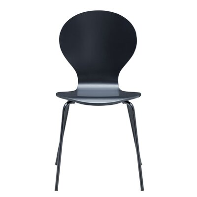 Pearl Street Solid Wood Dining Chair Finish: Black