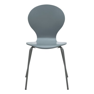 Pearl Street Solid Wood Dining Chair Finish: Grey