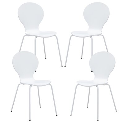 Pearl Street Solid Wood Dining Chair Finish: White