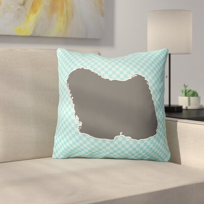 Puli Indoor/Outdoor Throw Pillow Size: 14 H x 14 W x 3 D, Color: Blue