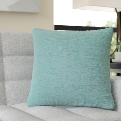 Ayre Square Throw Pillow Color: Aqua