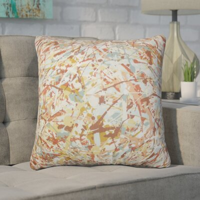 Bizzell Geometric Cotton Throw Pillow Color: Brown