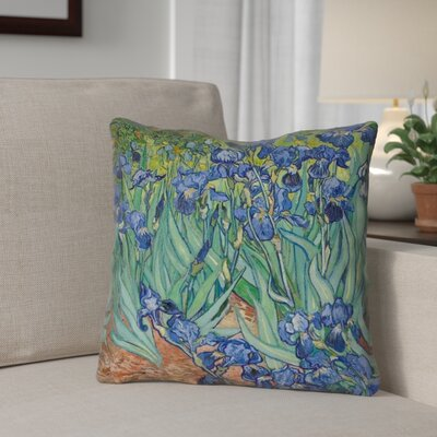 Morley Irises Outdoor Throw Pillow Size: 16 x 16