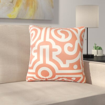Renick Geometric Cotton Throw Pillow Color: Watermelon
