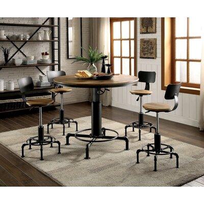 Gowan Industrial 5 Piece Pub Table Set
