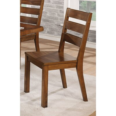Govea Industrial Solid Wood Dining Chair