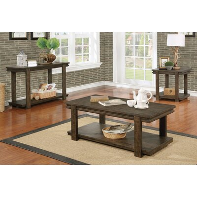 Stackhouse Rustic 3 Piece Coffee Table Set