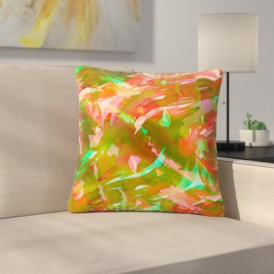 Ebi Emporium Motley Flow Outdoor Throw Pillow Size: 16 H x 16 W x 5 D, Color: Green/Red