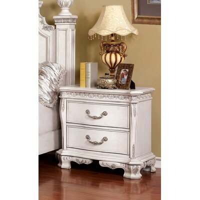 Rishel 2 Drawer Nightstand Color: White