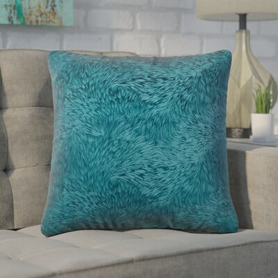 Cottrill Square Throw Pillow Color: Turquoise