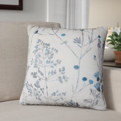 Queenstown Cotton Throw Pillow Color: Cream