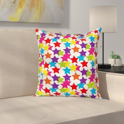 Rainbow Star Pillow Cover Size: 16 x 16