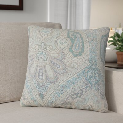 Dillsboro Damask Linen Throw Pillow Color: Seaglass