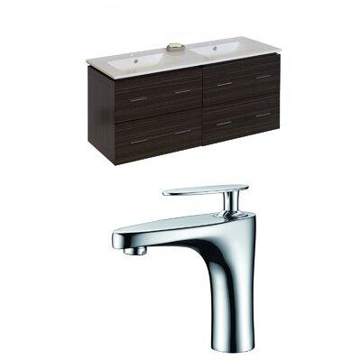 Hinerman 48 Wall-Mounted Double Bathroom Vanity Set Base Finish: Dawn Gray