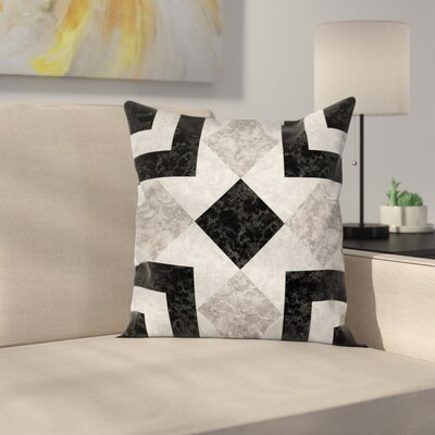 Authentic Marble Effect Square Pillow Cover Size: 16 x 16