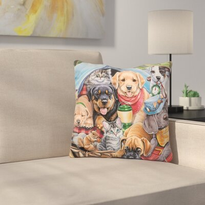 Camping Buddies Throw Pillow