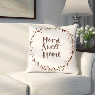 Cobleskill Outdoor Throw Pillow Size: 18 H x 18 W x 4 D, Color: White