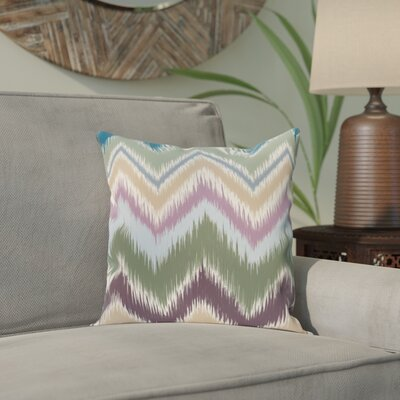 Arlington Chevron Throw Pillow Size: 16 H x 16 W, Color: Green